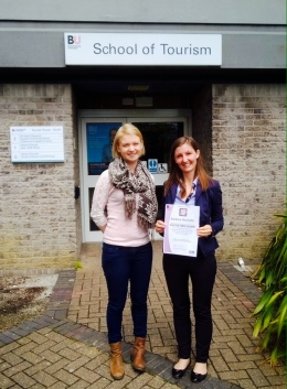 Barbara Neuhofer receives 'You're Brilliant' Teaching Award 2015 at Bournemouth University