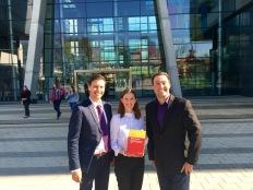 Dr Barbara Neuhofer with Editors Roman Egger and Igor Gula: Open Tourism Book