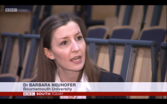 Dr Barbara Neuhofer interview BBC South Today on switching off on holidays