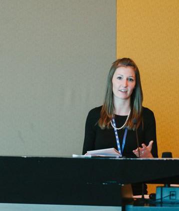 Barbara Neuhofer speaks at the University of South Australia Adelaide