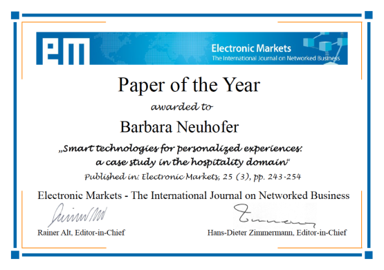 Paper of the Year
